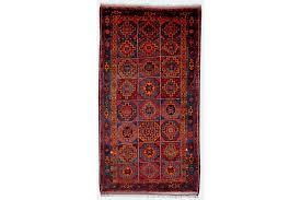 vintage persian rug kordi ferdoz 1950s dark red blue turqoise orange pink vinterior
