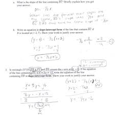 small size writing equations of lines worksheets activities parallel and perpendicular worksheet a 2