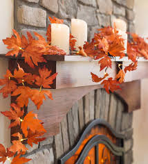 Lighted Garland Indoor Indoor Outdoor Lighted Maple Leaf Garland With 24 Lights