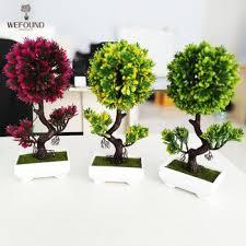 office bonsai. Mini Artificial Plant Bonsai Decoration Home \u0026 Office Plants E