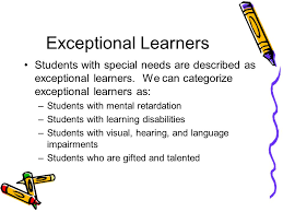 3 definition special education is programs and instructions for children with physical mental emotional or learning diities or gifted students who