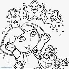 Dora The Explorer Coloring Pages Printable Coloring Page For Kids