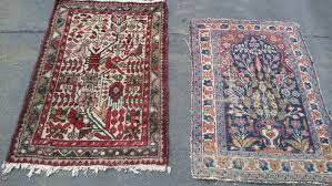 two hand knotted persian rugs iran