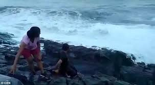 Indian Tourist Is Swept Away To His Death By Tide Daily