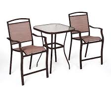 Mainstays Sand Dune <b>3</b>-<b>Piece</b> Outdoor <b>Bar</b> Height Bistro Set for ...