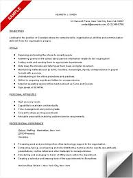 Secretary Resume Sample LimeResumes New Secretary Duties Resume