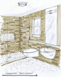 bathroom interior design sketches.  Interior DESIGN PLAN A Sweet Little Bathroom With A VintageModern Mix Inside Interior Design Sketches G