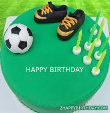 Football Birthday Cake With Name Editor 2happybirthday