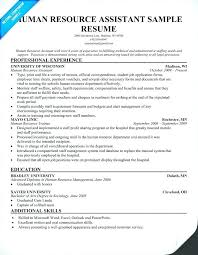 Hr Assistant Resume Objective Samples Human Resources Resumes Human