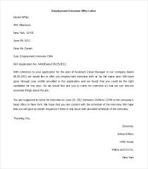 Emplyoment Letter Free Letter Of Employment Template