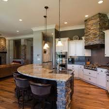 Love the open bar area where people can sit and visit while still being in  the kitchen. Open Concept Kitchen Living Room Design Ideas, Pictures,  Remodel, ...