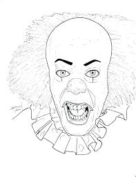 clown coloring page printable