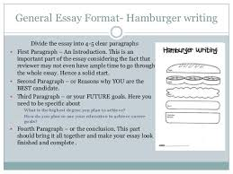 scholarship essay 3 general essay format hamburger writing