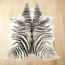 distressed faux zebra hide rug cowhide uk 1