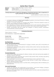 Logistics Clerk Job Description Resume Template