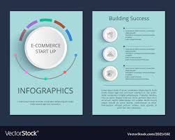 Success Posters E Commerce Start Up And Building Success Posters Vector Image