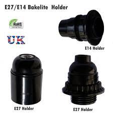 details about e27 e14 light bakelite bulb vintage lamp holder base pendant socket uk