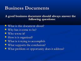 writing skills all topics full presentation  14 business documents a good