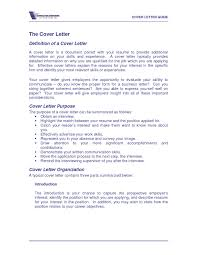 Cover Letter Definition In Business Corptaxco Com