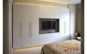 Designs For Wardrobes In Bedrooms Best Hight Gloss Bedroom Set Built In Wardrobe With TV Unit Closet In