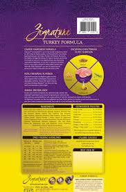 Zignature Feeding Chart Zignature Turkey Limited Ingredient Formula Grain Free Dry Dog Food 4 Lb Bag