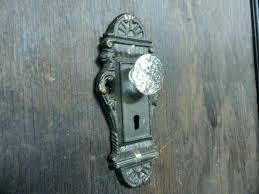 vintage crystal door knobs dummy antique brass glass value canada knob identification y