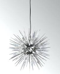 urchin chandeliers explosion chandelier hover aqua blue color beaded gold on pottery barn