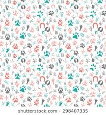 background images animals. Plain Background Seamless Pattern With Footprint Of Birds And AnimalsHanddrawn Element  Useful For Invitations For Background Images Animals