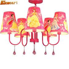 chandeliers hghomeart fashion children modern crystal chandelier cartoon kids girl princess prink bedroom chandelier led