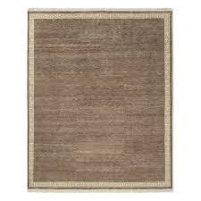 greek key border hand knotted rug 6x9 hickory