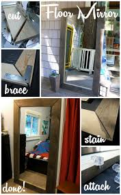 DIY Floor Mirror
