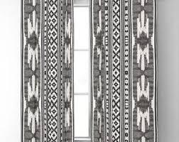 Black white curtains | Etsy