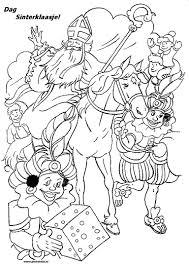 Sinterklaas Kleurplaten Sinterklaasfeest Bij Pinkelotje