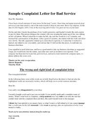 Business Complaint Letter Business Complaint Letter V 24 Magnificent Sample For Bad Service 13