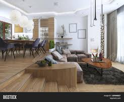 Studio Living Room Furniture Studio Apartment With Living Room And Dining Room In A