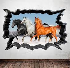 wild horses stallion horse room wall art sticker decal transfer wall stickers on wild horses wall art with wild horses stallion horse room wall art sticker by mysticky on zibbet
