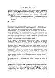 Published on jun 22, 2015. El Juego En El Nivel Inicial