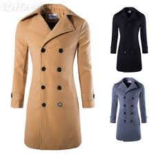 new men s slim wool winter coat outwear overcoat jacket