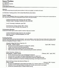 Objective For Resume Teaching Objectives For Resumes Best Resume Collection 48