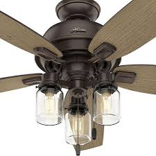 hunter auburndale 54 led onyx bengal ceiling fan