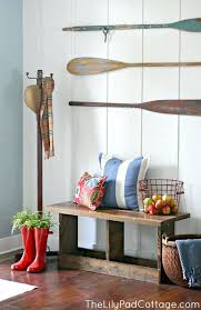 lake house wall decor planked entry way and fun ideas