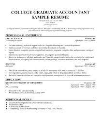 Sample Recent College Graduate Resume Joefitnessstore Com