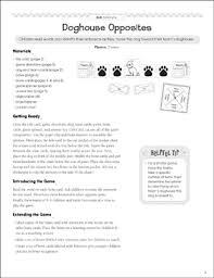 Doghouse Opposites Antonyms Pocket Chart Game Printable