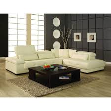 bella cream leather sectional sofa by creative
