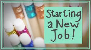 starting a new job starting a new job
