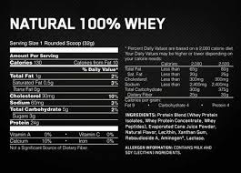 optimum nutrition gold standard natural 100 whey natural chocolate nutrition information