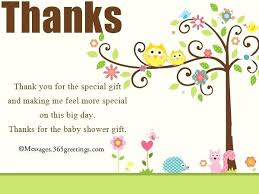 Baby Card Notes Baby Shower Thank You Notes For Gifts Letter Gift Card