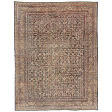 antique persian mahal oriental rug carpet handmade c ivory light blue for