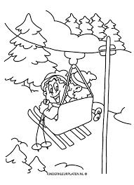 Kleurplaat Skilift Bart En Loesje Vakantie