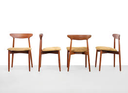Design 59 Set Harry Ostergaard Model 59 Design Dining Room Chairs In Teak Leather